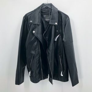 Boohoo Man Leather Jacket
